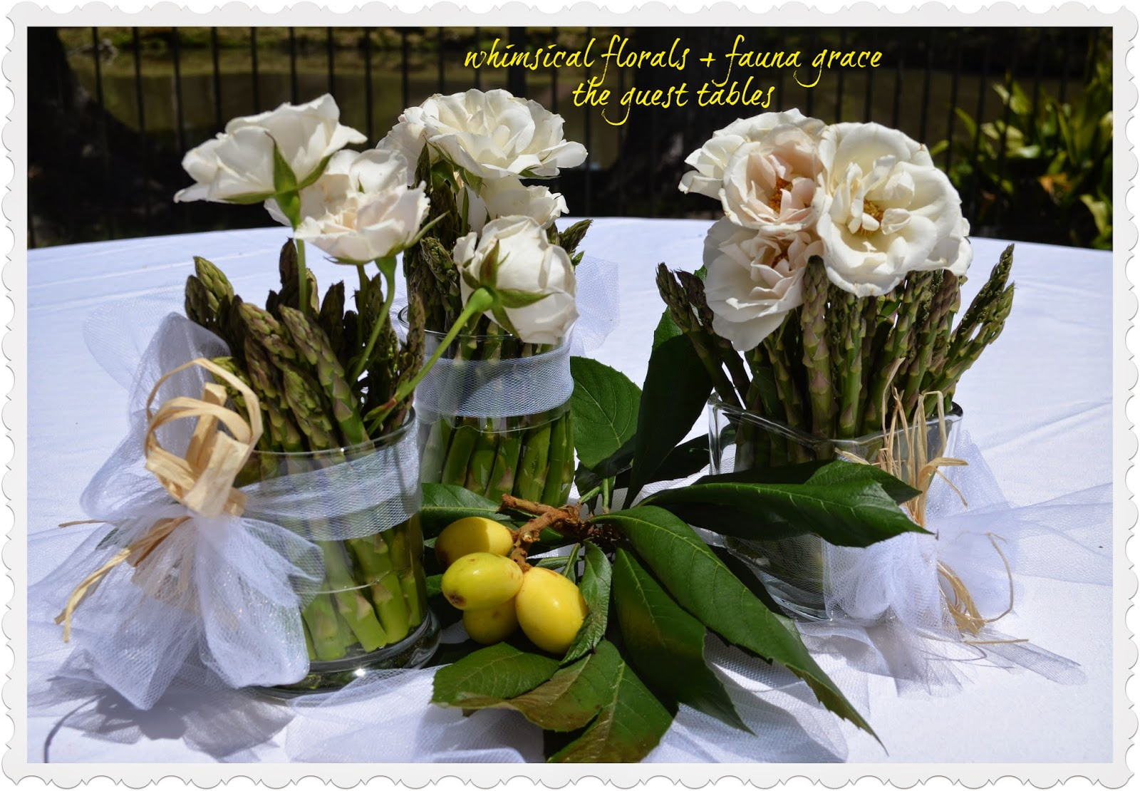 florals and vegetable centerpieces