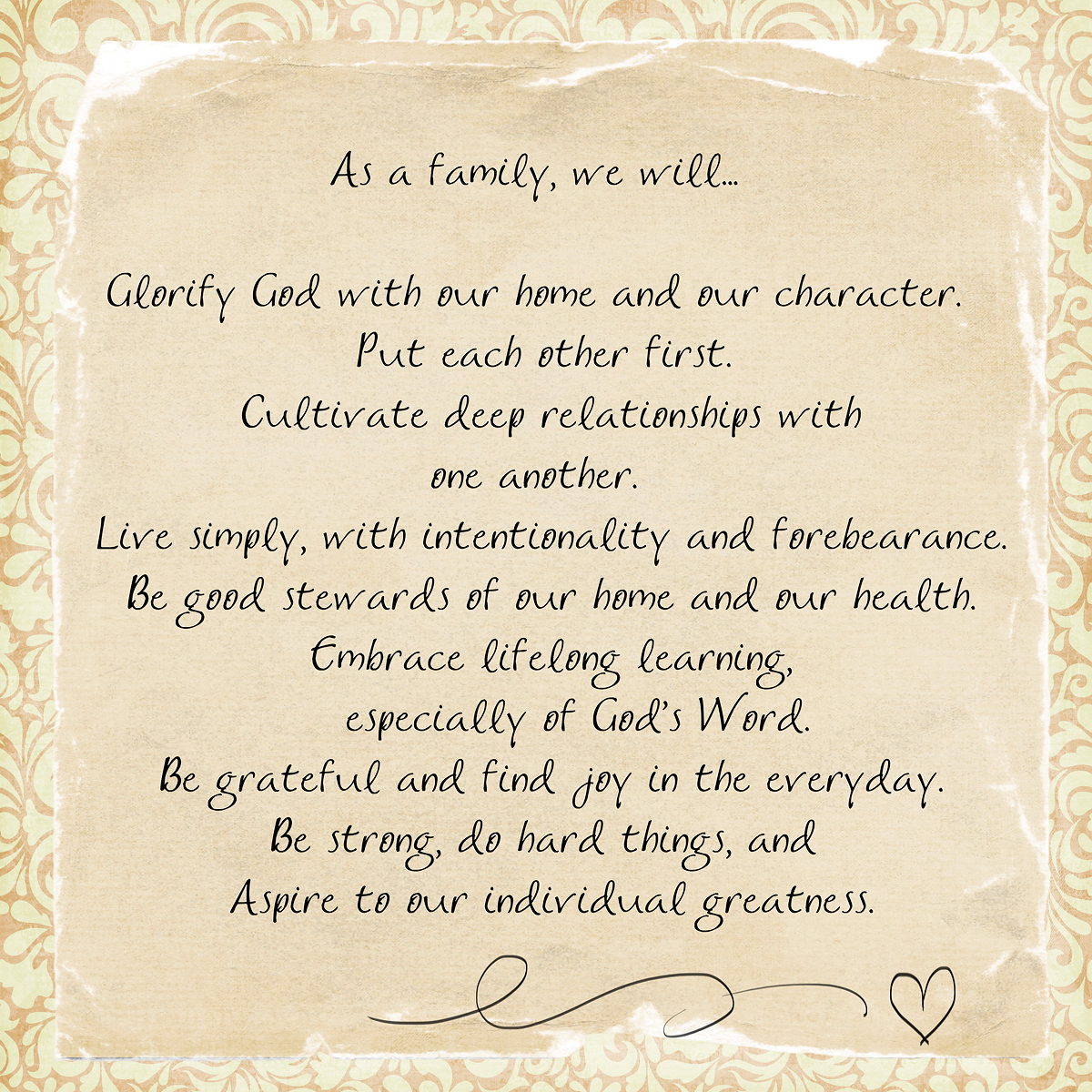 Examples Of Family Mission Statements Image Collections Example