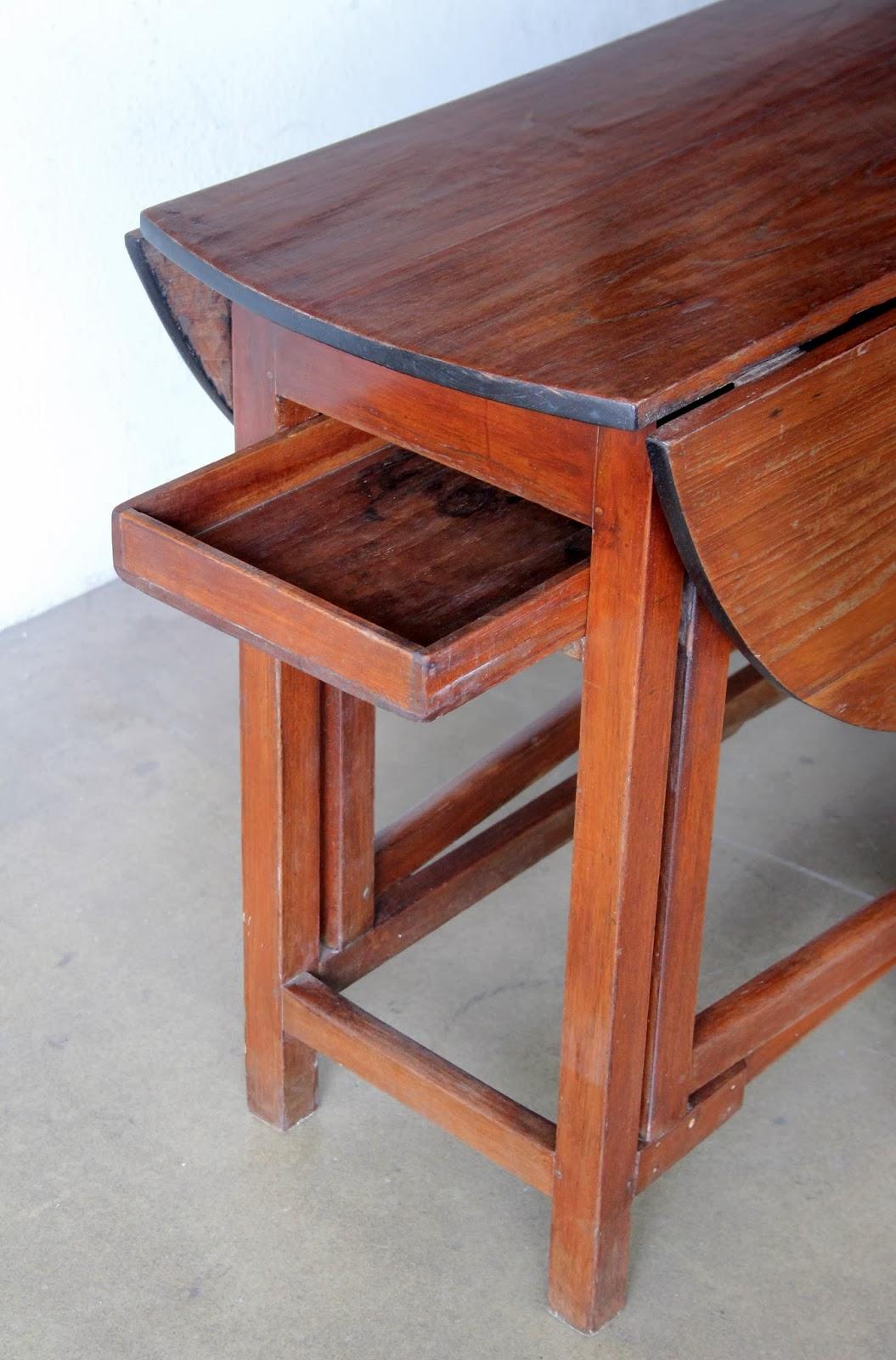Vintage love vintage furniture restored and reupholstered ashley furniture - Gateleg table with drawers ...