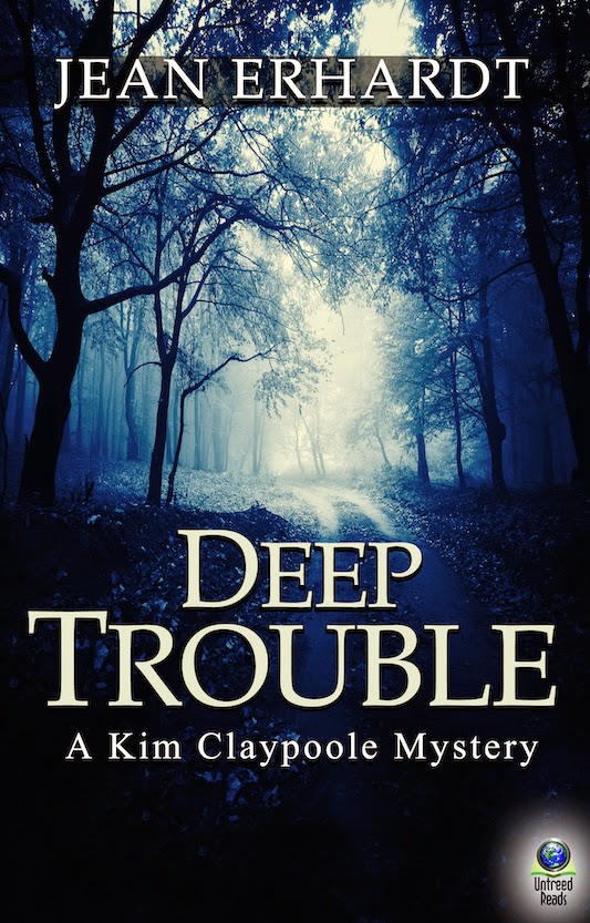 http://www.amazon.com/Deep-Trouble-Claypoole-Mystery-Book-ebook/dp/B00LBH1ZPU/ref=sr_1_1?s=books&ie=UTF8&qid=1419888349&sr=1-1&keywords=jean+erhardt