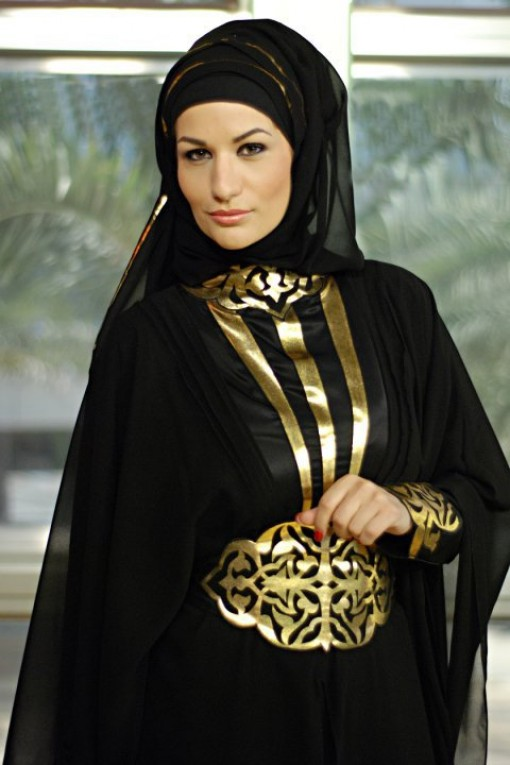 Unique Black Muslim Abayas Jilbabs Muslimah Dresses For Saudi Women Islamic