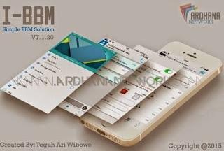 Download BBM Model Handphone I-Phone Gratis Untuk Android 2015