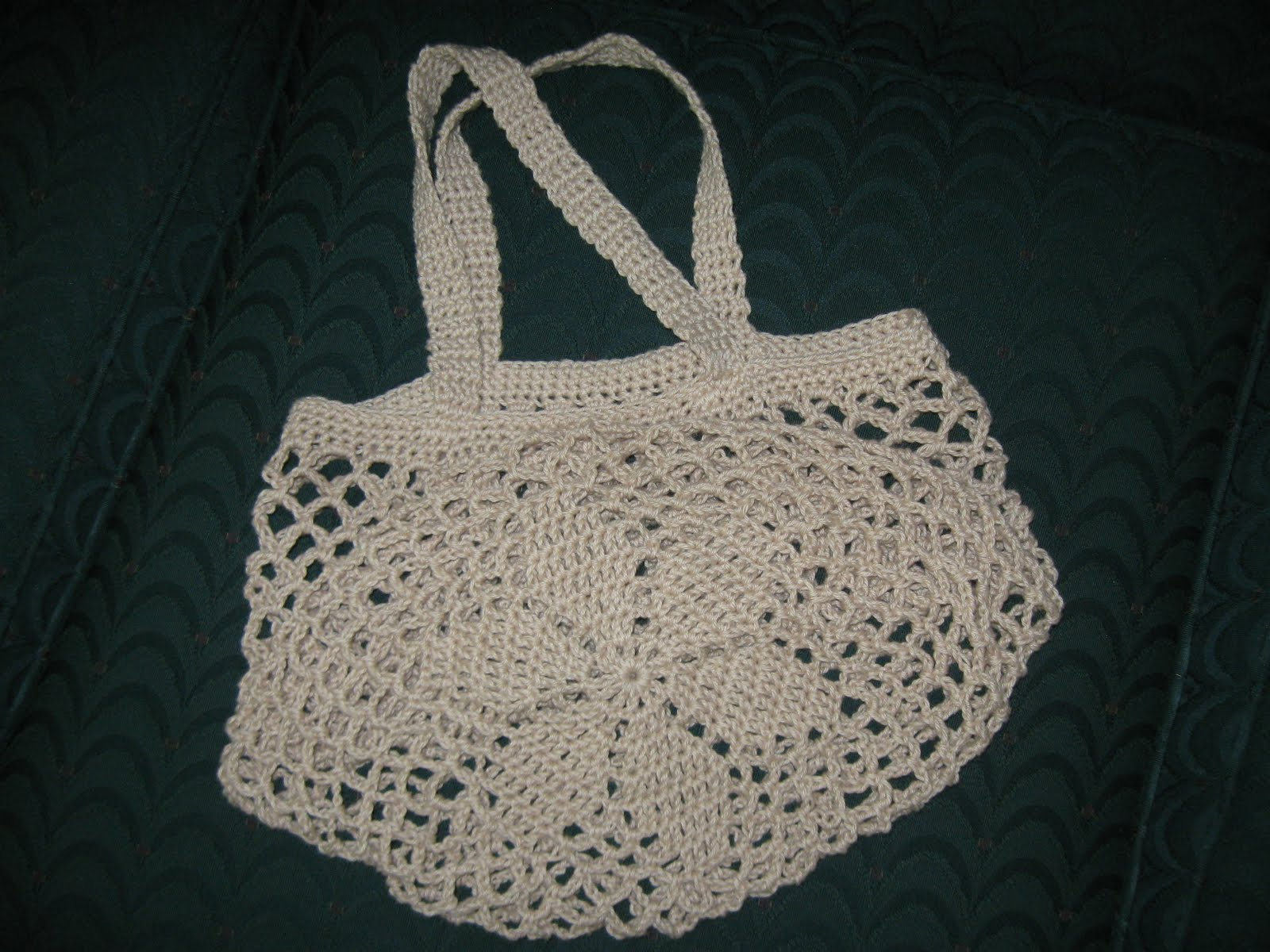String Bag Crochet Pattern : You *can* knit with a lightsaber!: Crochet Flower Motif String Bag