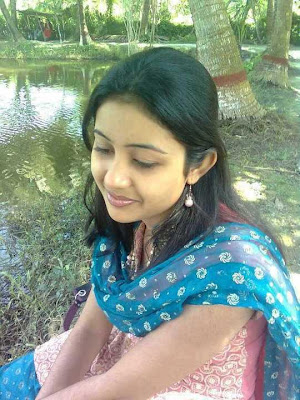 Homely Indian girl dhivya dreaming.