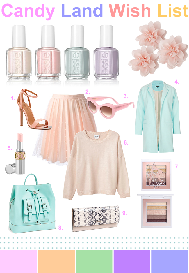 Pastel Beauty and Fashion Wish List
