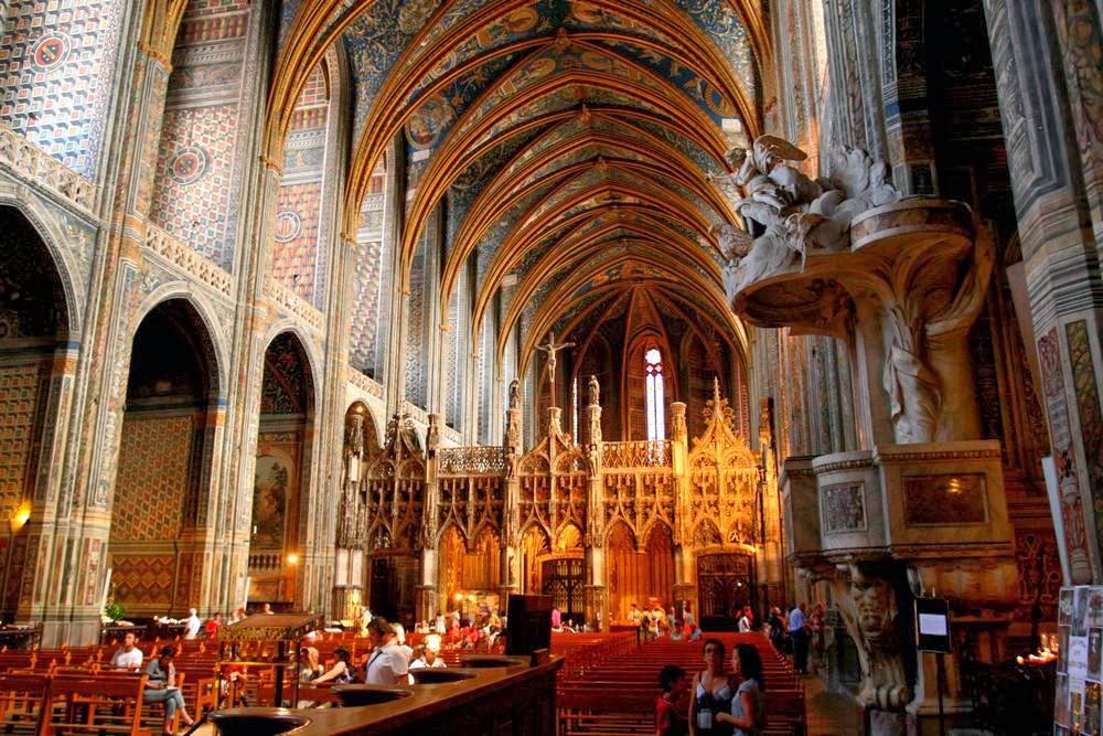 Interieur van de kathedraal van Albi
