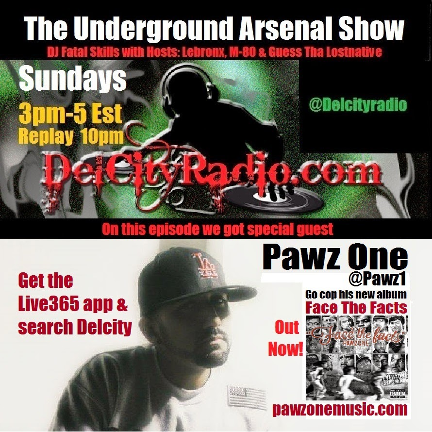 http://www.mixcloud.com/DelCityRadio/the-underground-arsenal-show-with-special-guest-pawz-one/