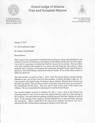 Freemasons for dummies arizona update the following letter is now being circulated by the grand master of arizona as further explanation of his removal of the deputy gm from office thecheapjerseys Image collections