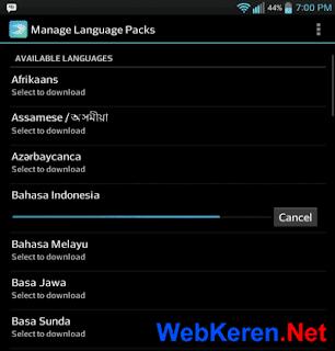 Prediksi bahasa indonesia Swiftkey Mengetik Cepat Android