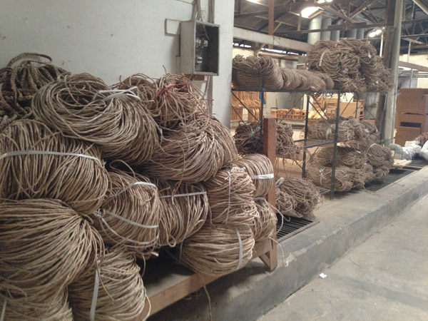 Rattan ready to be weaved - prepared