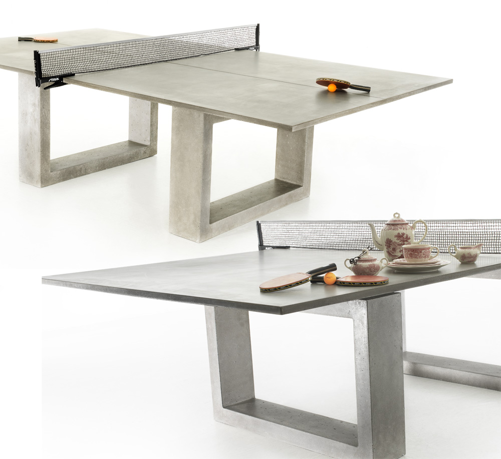 Steel Ping Pong Table Doubles As Indoor Outdoor Dining Table