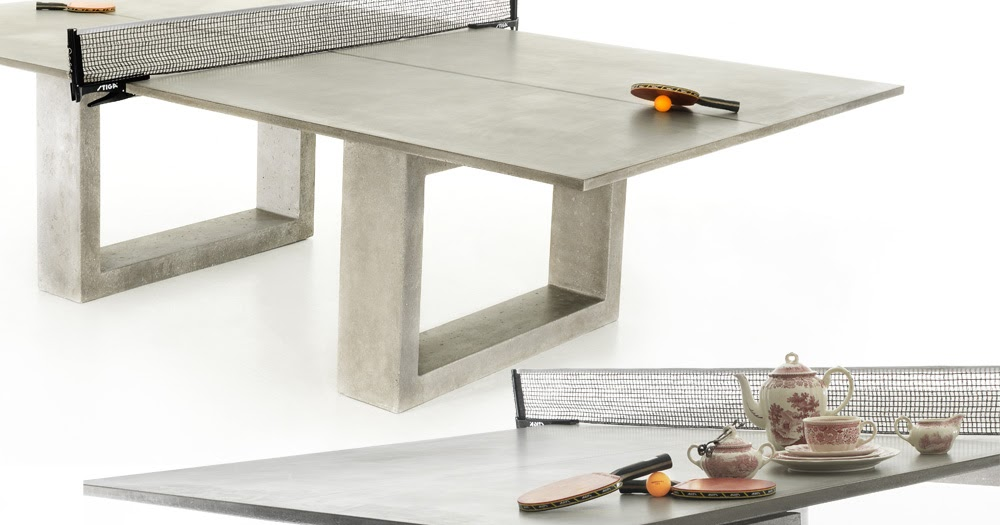 Mzgraciev Modern Concrete Amp Steel Ping Pong Table Doubles