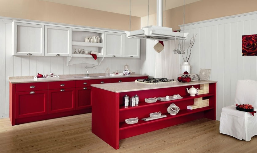 Florence 39 s home cucine dal sapore nordico - Cucina bianca e rossa ...