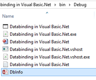 Database in Debug folder