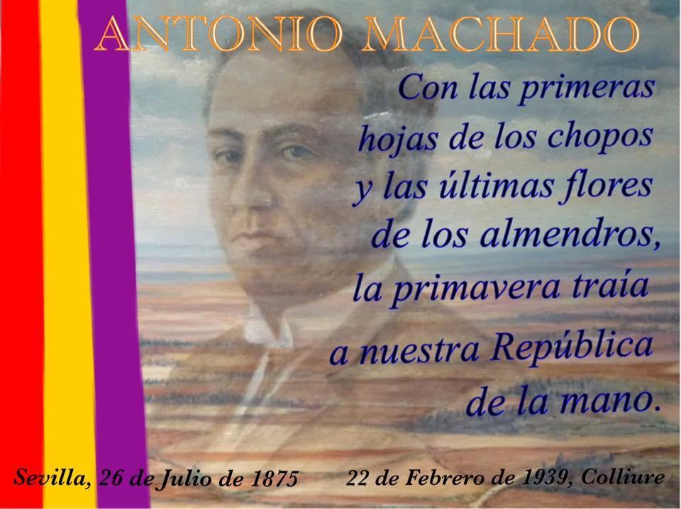 22 febrero 80º aniversario del fallecimiento de Antonio Machado
