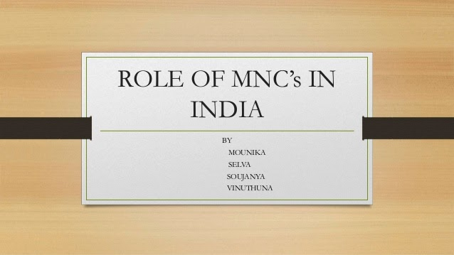 Role of MNC's in India as GD and Lecturette in SSB