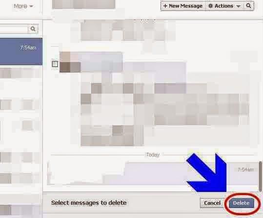 hapus pesan masuk facebook