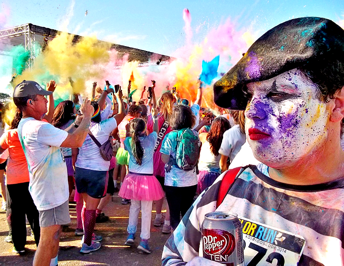 The Color Run Ventura, CA 2014 Color Toss Mime