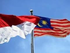 Indonesian and Malaysian Flag