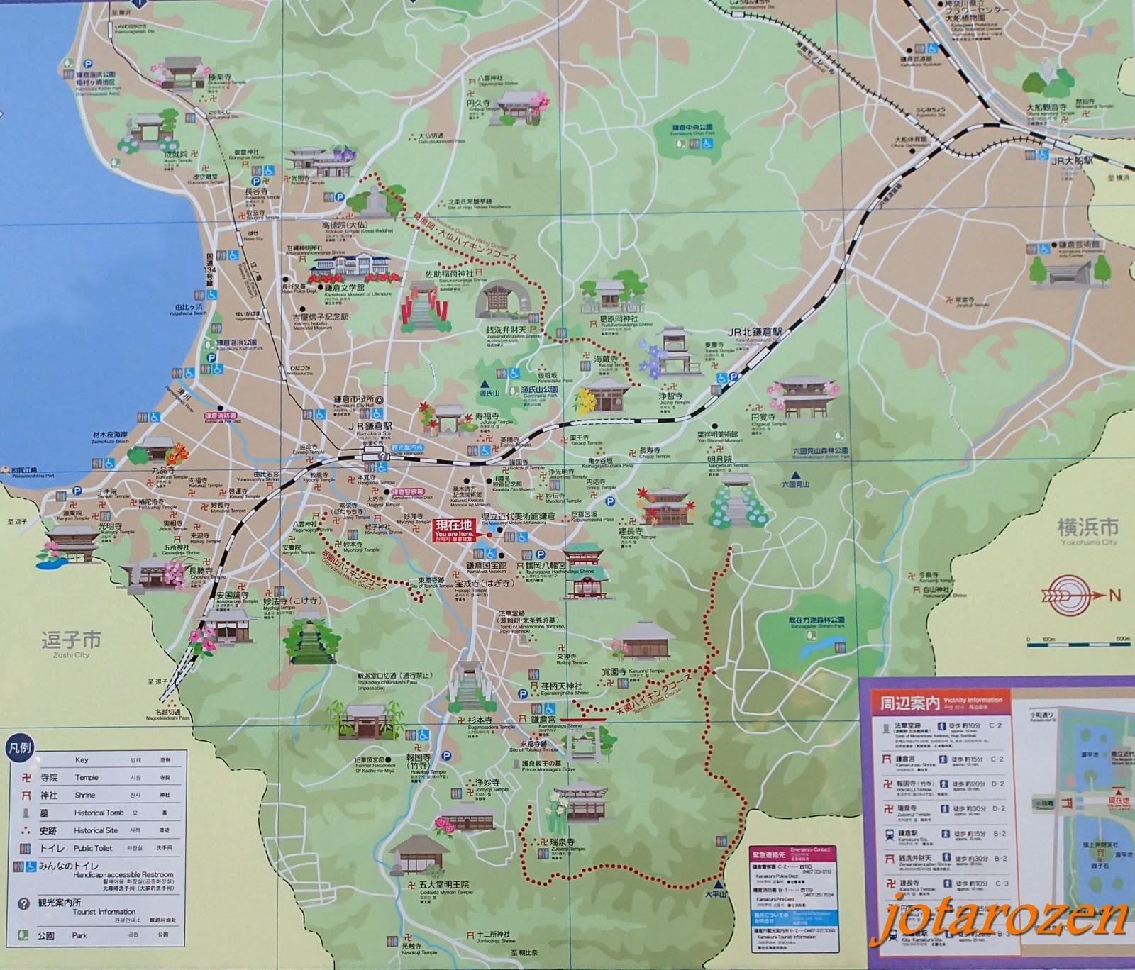Footsteps Jotaros Travels Travel Tips JapanTokyo Kamakura – Japan Tourist Attractions Map