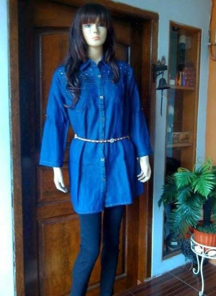Blouse Jeans Fashion Modis AJ943