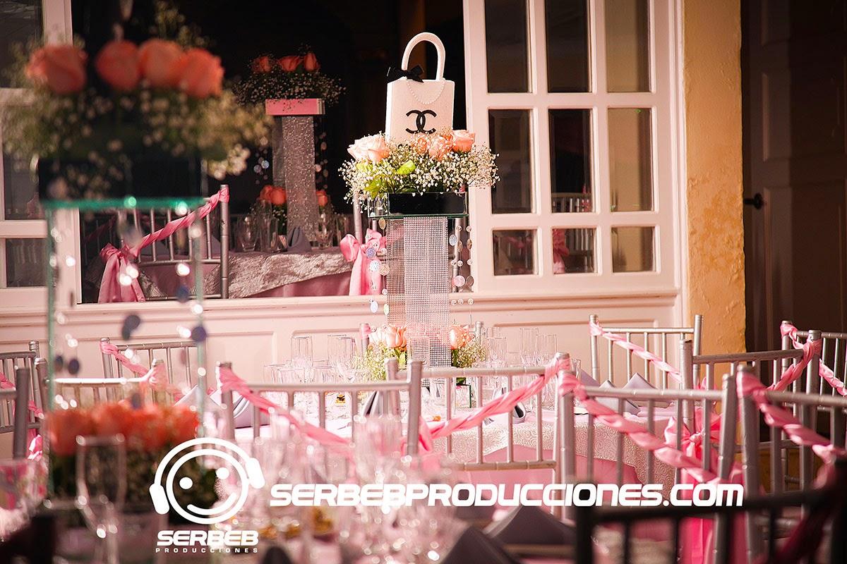 15 a os decoraci n de 15 a os rosado salm n for Decoracion para fiesta de quince