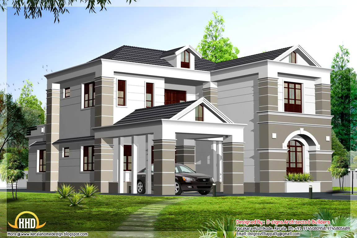 Front Elevation Of Kerala Model Houses : Front elevation designs duplex plans and