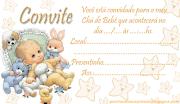 Convite chá de bebê GrátisModelo bebezinho para imprimir e preencher
