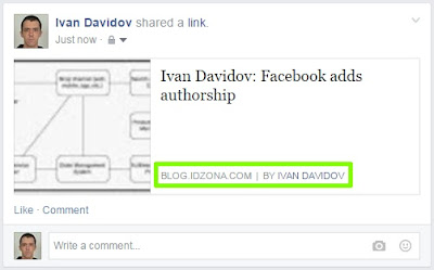 Facebook - authorship tag