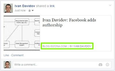 Facebook - authorship tag