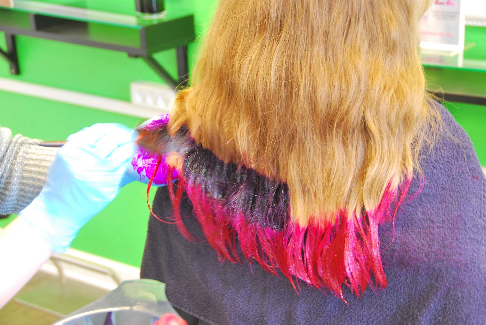 Get Ombre Violet Hair At Home