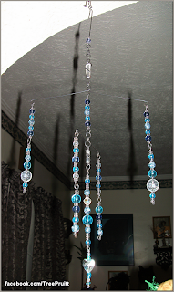 """Crystal Water"" wire mobile by TE Pruitt."