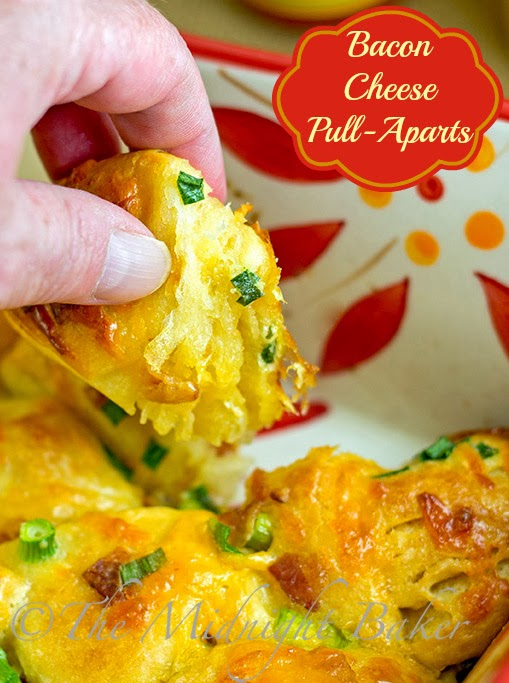 Bacon Cheese Pull-Aparts #appetizers #RefrigeratedBiscuitRecipes # ...