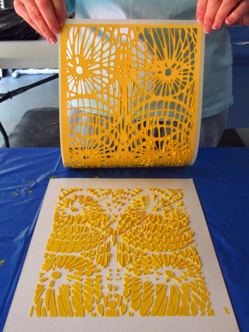 Rub Off Stencils : Art rubbing plates flip flops and stencils