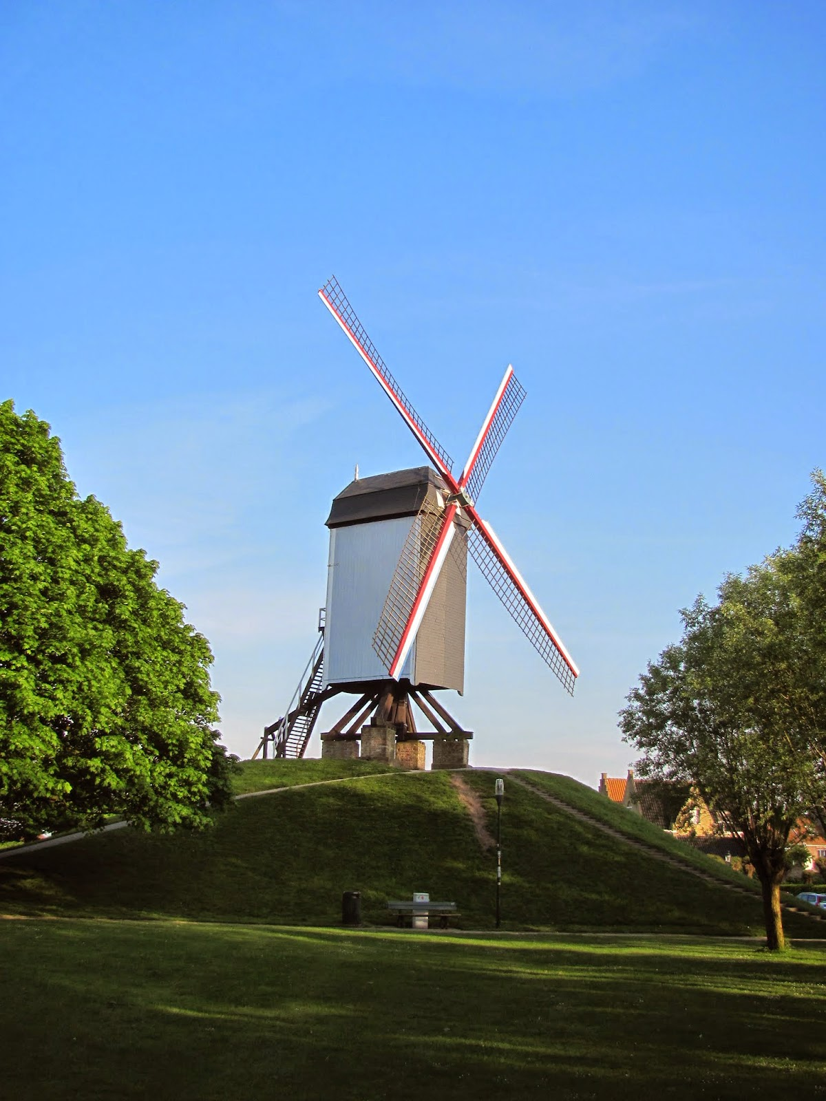 Ring Canal Windmill Bruges, Belgium