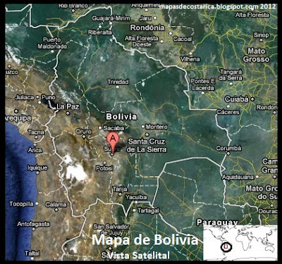 Bolivia , Vista Satelital 