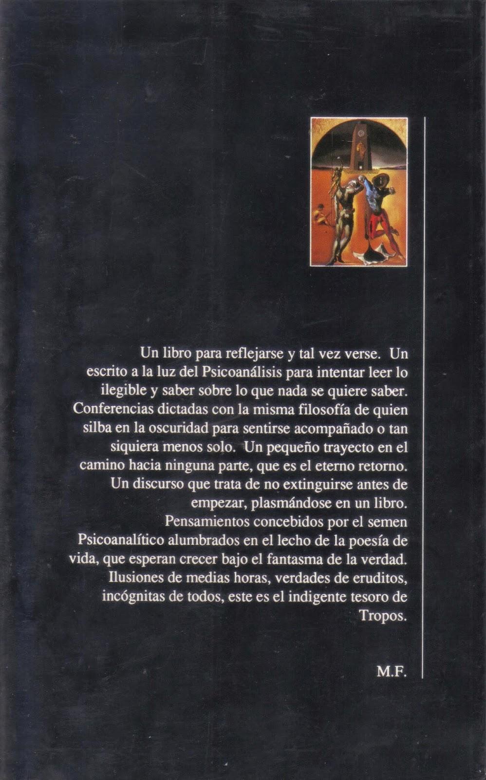 Contraportada del libro TROPOS de Mario Fattorello