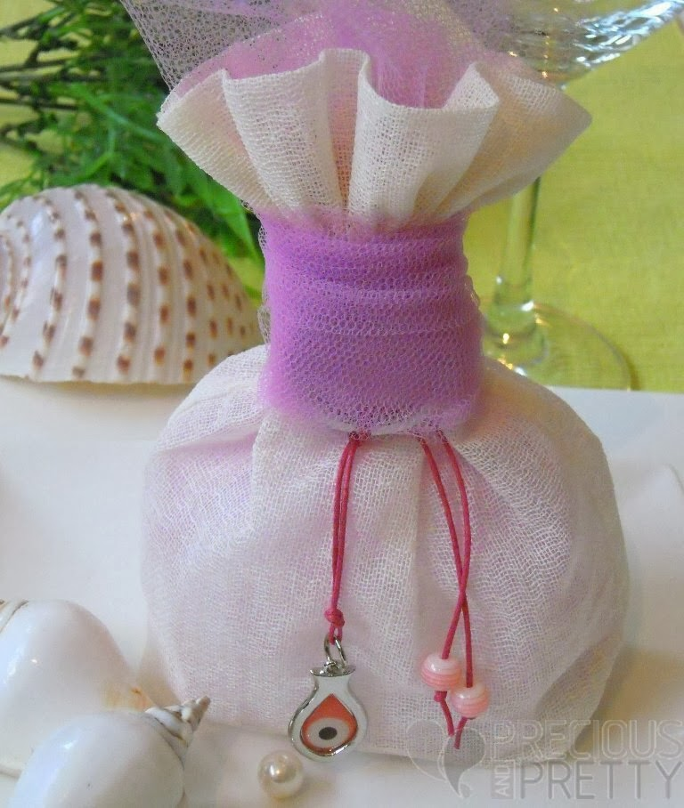 christening favors from greece with evil eye