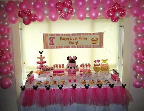 Decoracion minnie mouse rosa - Decoracion mesas infantiles ...