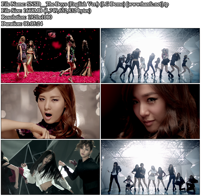 [MV] SNSD   The Boys (English Ver.) (LG Demo Bluray HD 1080p)