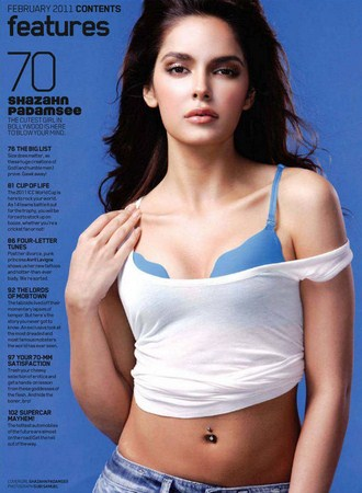 Shazahn Padamsee navel belly button bikini wallpaper - Shazahn Padamsee Hot Pics