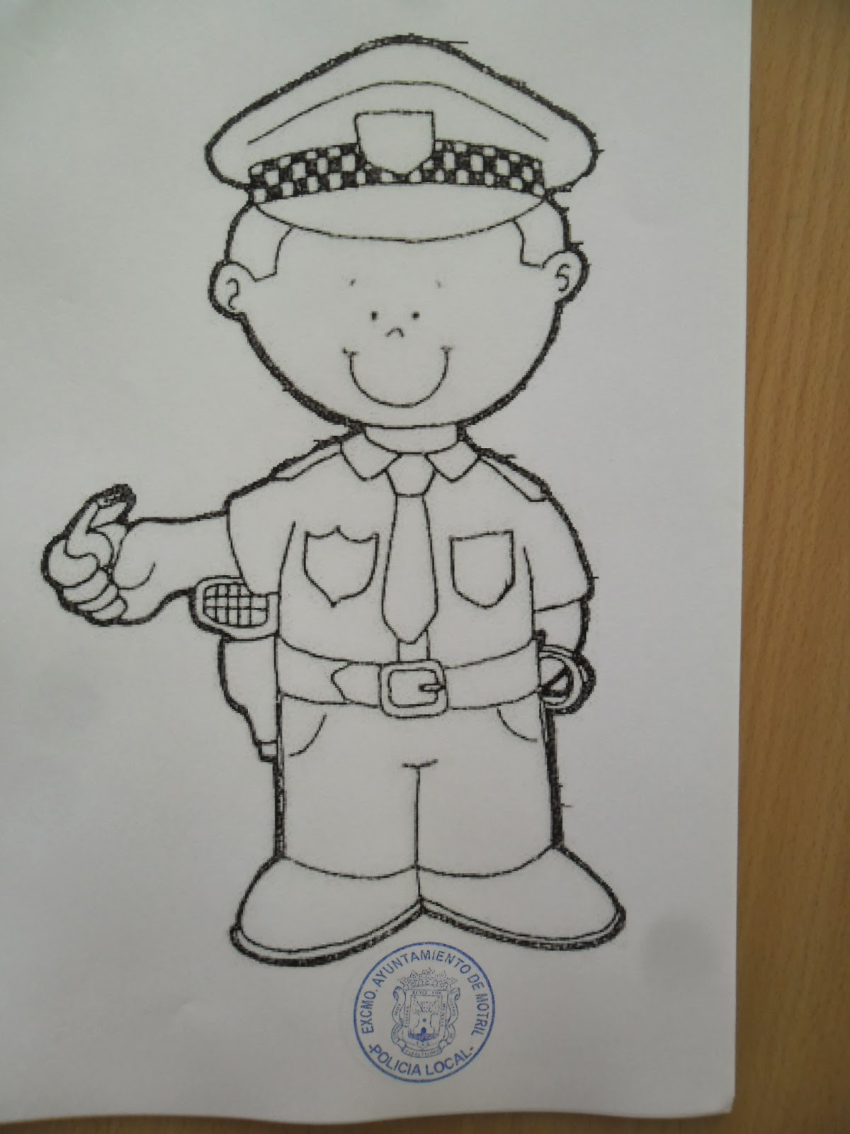 Dibujos De Policias Para Colorear. Fabulous Haz Click En Coche De ...