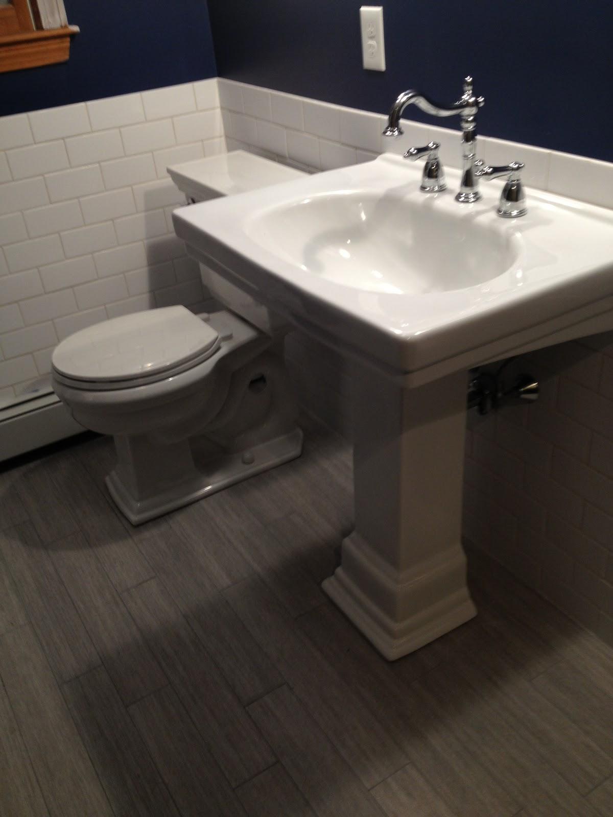 Bathroom Renovation Starting To Look Like A Bathroom Again Notes - Starting a bathroom renovation