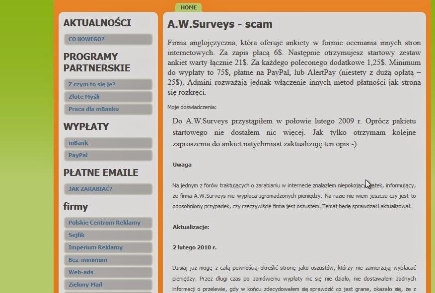 AW Surveys płatne ankiety internetowe