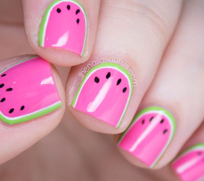 I been dranking watermelon the nailasaurus uk nail art blog watermelon nail art with nicole by opi leapink for joy prinsesfo Gallery