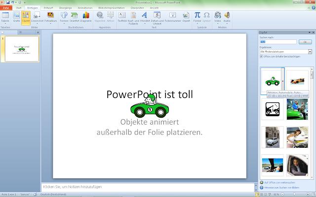PowerPoint 2010 - ClipArt einfügen
