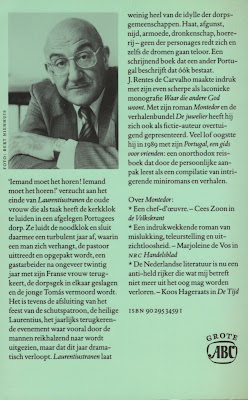 Laurentiustranen, O Rebate, José Rentes de Carvalho, Capa Edição Holandesa