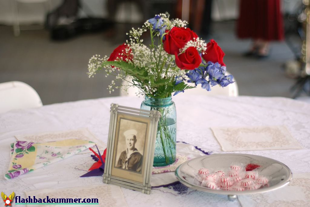Flashback Summer: My 1940s Air Force Military Wedding - vintage decor