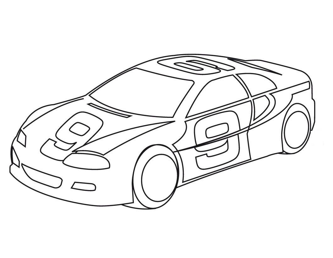 Dibujo de Carro de Carrera para Colorear ~ Colorea el dibujos