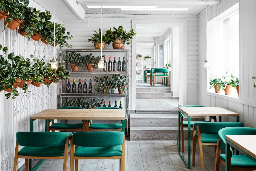 Дизайн интерьера летнего кафе